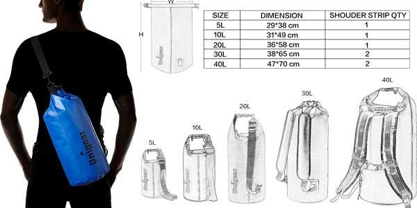 Chollo petate seco Unigear impermeable de 5L de capacidad con funda ... ae31898d68548