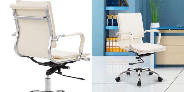 Chollazo Silla de oficina de diseño ergonómica giratoria con asiento ...