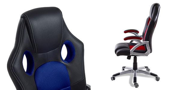 Chollo silla de despacho gaming mchaus 9701 ergon mica por for Silla de oficina racing