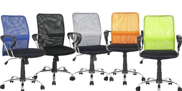 Chollazo silla de oficina ergon mica giratoria con asiento for Silla ergonomica amazon