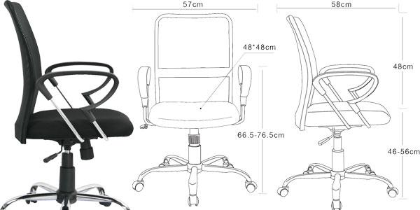 Silla de oficina ergonómica SIxBros Design barata en Amazon