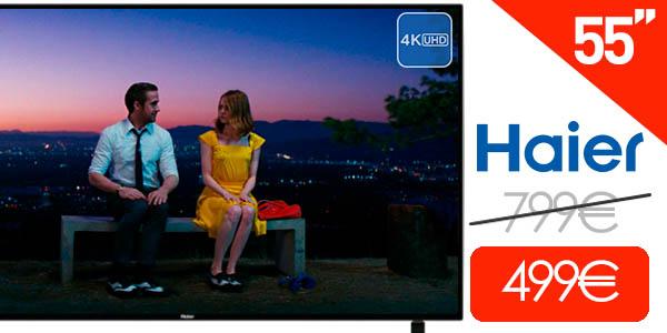 """Smart TV LED Haier B9300U de 55"""" UHD 4K"""