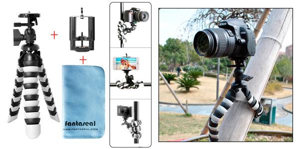 Trípode flexible Octopus 3 en 1 para cámara y smartphone rebajado en Amazon