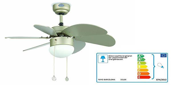 ventilador con luz Faro Palo 33186 barato