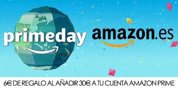 6€ de regalo al añadir 30€ a tu cuenta Amazon Prime