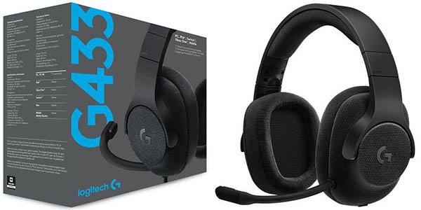 Auriculares gaming Logitech G433 con sonido 7.1