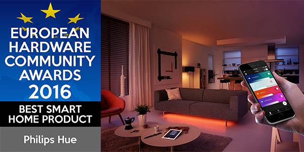 bombillas de colores controlables mediante aplicación móvil Philips Hue