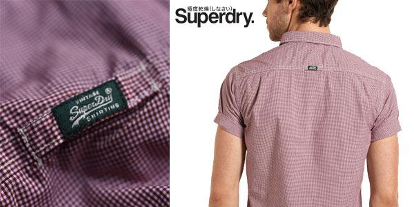 Camisa Laundered Summer Hounds Burgundy de Superdry barata en eBay