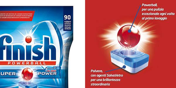cápsulas Finish Powerball Todo en 1 bolsa para 90 lavados de lavavajillas