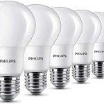 Conjunto 6 bombillas LED de Philips de 8W (60W) casquillo Edison chollo en Amazon