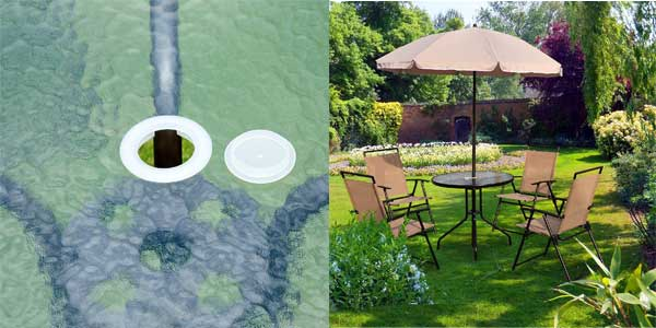Chollo conjunto de muebles de jard n outsunny con 4 sillas for Conjuntos de jardin baratos