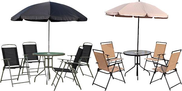 Chollo Conjunto de muebles de jardín Outsunny con 4 sillas plegables ...