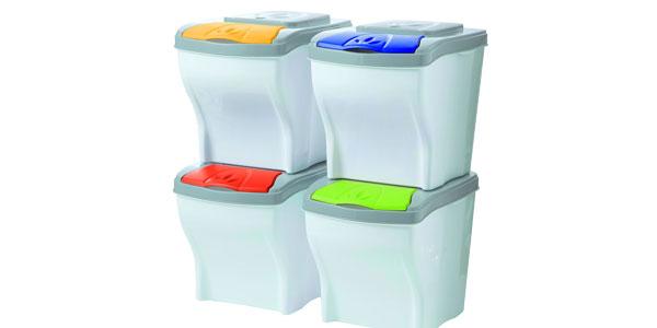 Cubos de basura para reciclaje de 30L Bama Poker chollo en Amazon
