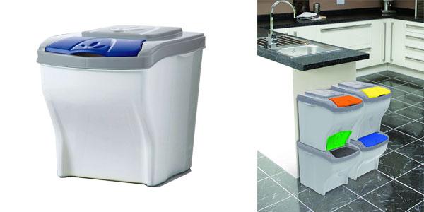 Cubos de basura para reciclaje de 30L Bama Poker chollazo en Amazon