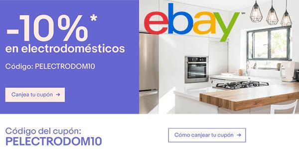 eBay código descuento electrodomésticos agosto 2017