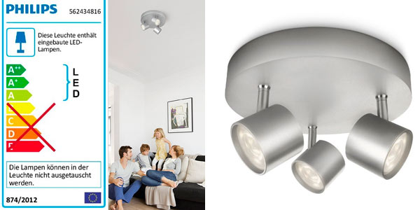 Foco LED triple Philips myLiving Star al mejor precio en Amazon