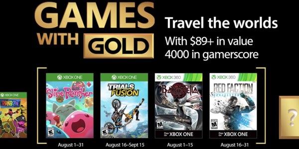 Juegos Gratis Con Gold De Agosto 2017 Para Xbox One Y Xbox 360