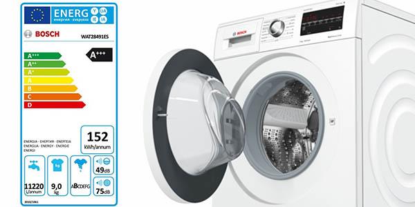 lavadora de clase AAA Bosch WAT28491ES varios programas y display