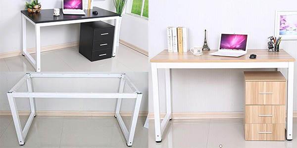 mesa de escritorio y oficina MDF y metal barata