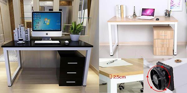 Chollo mesa de escritorio para casa u oficina en mdf y metal por s lo 58 99 con env o gratis - Tablero escritorio ...