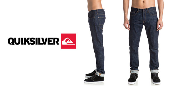 Pantalón Quiksilver Distorsion Rinse slim fit jeans para hombre muy barato