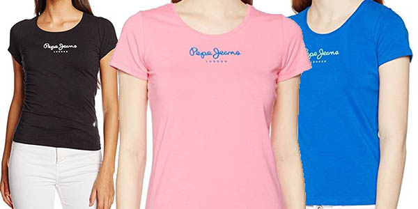Pepe Jeans camiseta casual para mujer chollo
