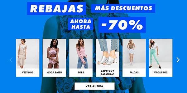 ropa para mujer rebajada de marca en la tienda Asos julio 2017