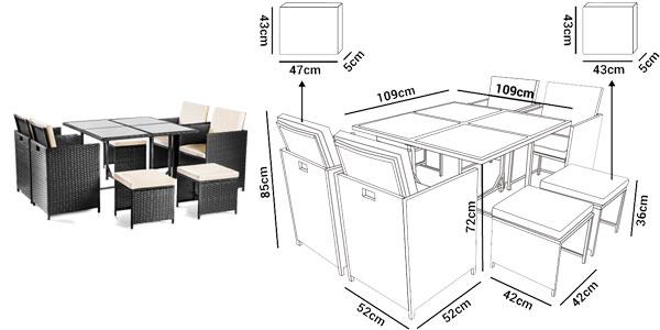 Atractivo Muebles De Jardín De Ratán Ebay Colección - Muebles Para ...