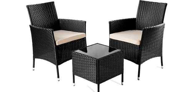 Chollazo sillones y mesa de jard n modelo trento por s lo for Sillas jardin amazon