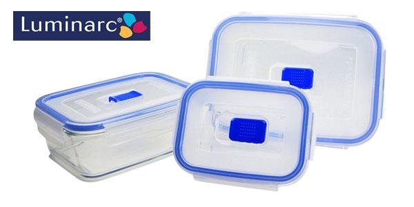 Set 3 herméticos Luminarc Pure Active Box chollo en Amazon