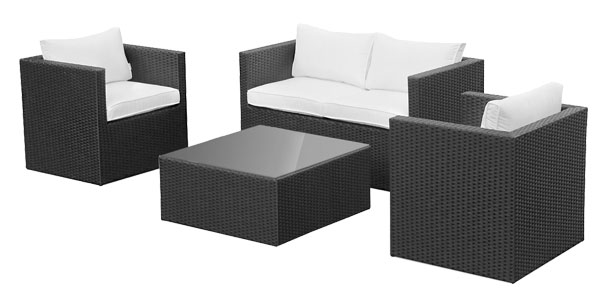 Conjunto 4 piezas de terraza o jardín Messina por sólo 279€ con ...