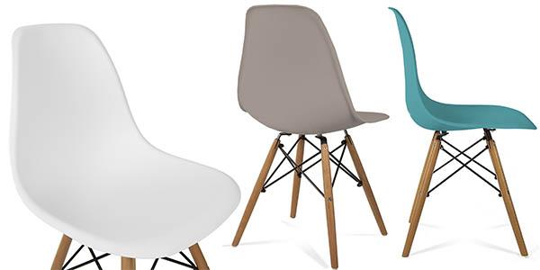 sillas de comedor de diseño moderno Ray y Charles Eames