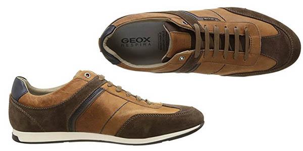zapatillas Geox U Clemet B diseño en ante y con suela Respira cómoda