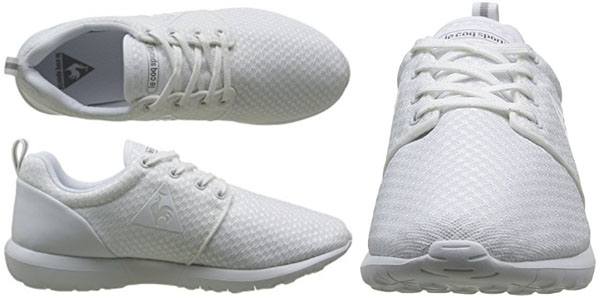 Zapatillas Le Coq Sportif en lona blanca lisas oferta en Amazon