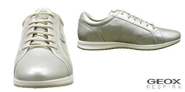 Zapatillas Geox D52H5A00085 color plata baratas en Amazon