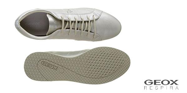 Zapatillas Geox D52H5A00085 color plata chollazo en Amazon