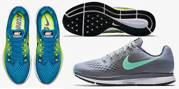 bambas Nike Air Zoom Pegasus 34 para mujer y para hombre