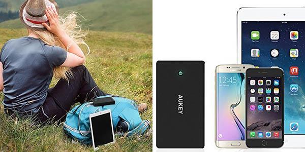 Batería portátil AUKEY 20.000 mAh (Lightning y Micro-USB), 2 puertosUSB 3,4A