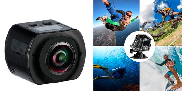 Cámara Mixmart deportiva 360º con modo VR, WiFI y resolución 4K rebajada en Amazon