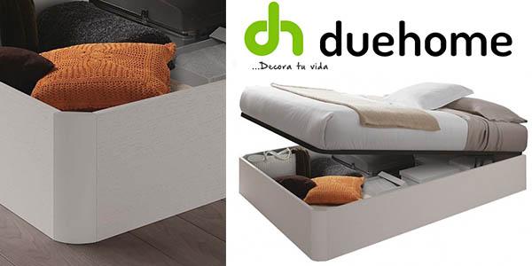 canapé con somier DueHome blanco alpes oferta