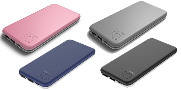 Cargador portátil Puridea de 10000 mAh con doble USB al mejor precio en Amazon