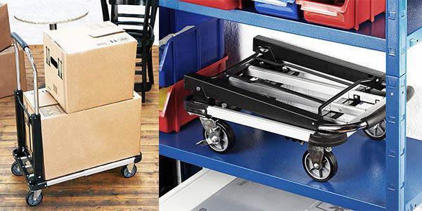 carro plegable con capacidad para 150 kg ajustable y orientable