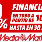 """Catálogo Media Markt """"Financiación 0% fin de agosto"""""""