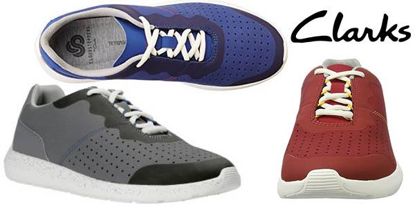 Clarks Torset Vibe zapatillas cómodas para hombre baratas
