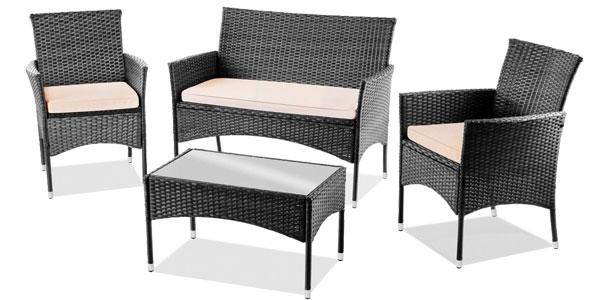 Chollo conjunto de 4 piezas de muebles de jard n mchaus m for Conjunto de jardin baratos
