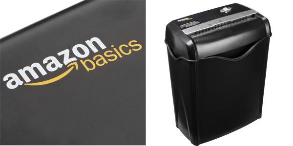 Destructora de papel, cd/dvd y tarjetas de crédito AmazonBasics chollo en Amazon