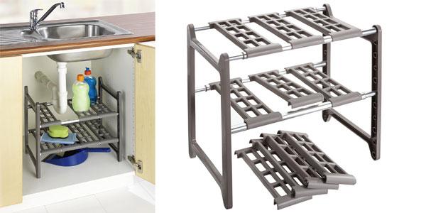 Chollo estanter a para armario de fregadero de for Fregaderos de aluminio