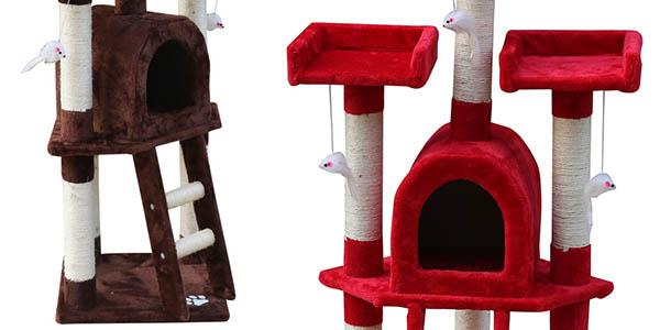 juguete-rascador para mascotas de felpa y sisal