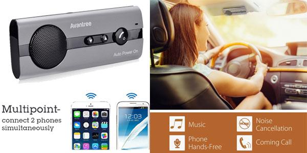 Kit manos libres altavoces Bluetooth 4.0 Avantree BTCK-10BP-BLK chollo en Amazon