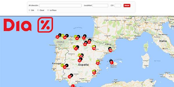 localizador de tiendas DIA en España